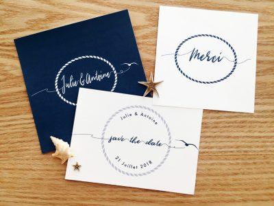 Faire-part & Papeterie de mariage à Montpellier, faire-part, mariage, invitation, menus, save the date, sur-mesure
