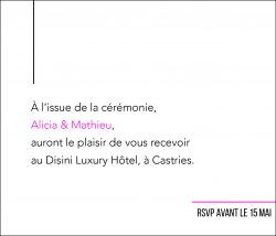 Papeterie mariage, invitation