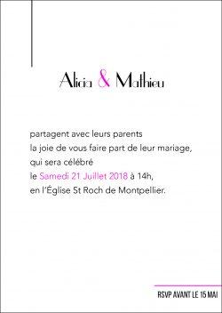 Papeterie mariage, faire-part personnalisable