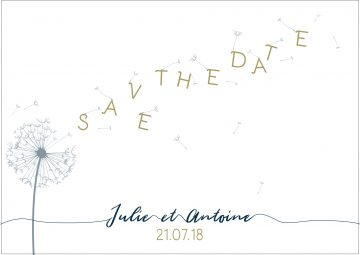 Papeterie mariage, faire-part personnalisable, save the date
