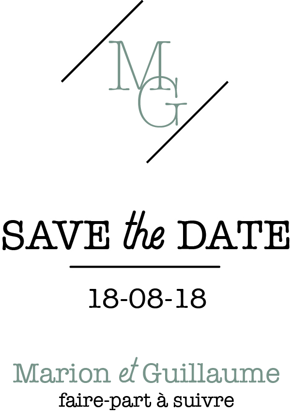 Papeterie mariage, save the date
