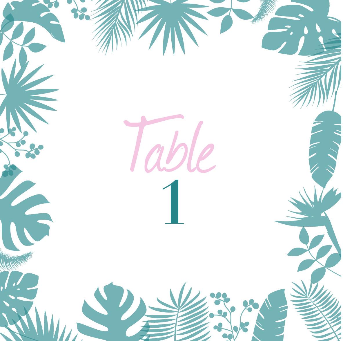 Papeterie mariage, faire-part personnalisable, numéro de table