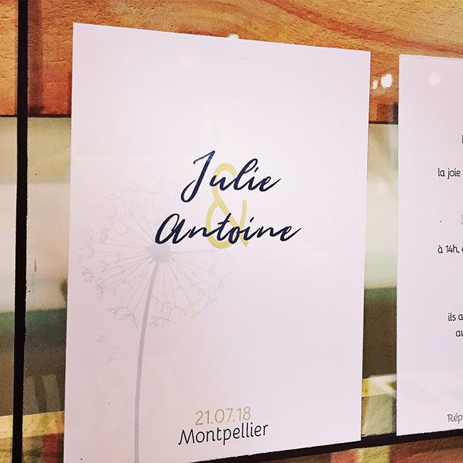 Graphiste-Montpellier-4-création-graphique-&-Papeterie, papeterie mariage, faire-part-personnalisable, mariage, faire-part, invitation, sur-mesure